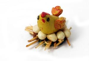 Chicken in the nest